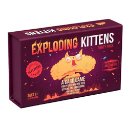 Exploding Kittens Card Game Party Pack For Up To 10 Players New Free Shipping