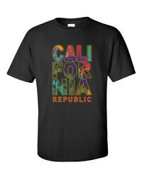 California Stacked Palm Trees Unisex Short Sleeve Graphic Tee