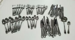 Pre-owned 60 Pc. Hampton Silversmiths 18/10 Stainless Flatware Nobility Pattern