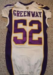 Minnesota Vikings Chad Greenway Authentic Game Cut Jersey 2012 Size 40 Line Back