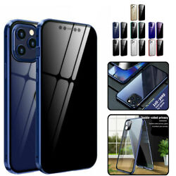 For Iphone 12 11 Pro Max Xs X 8 7 6 Plus Se2 Full Body Anti-spy Glass Case Cover