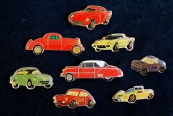 Small Lot Of 8 Hat Lapel Pin Badge Accessory Various Makes And Models