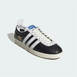 Adidas Gazelle Vintage Leather Trainers Black White Authentic Brand New