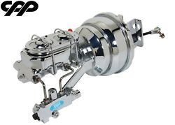 65-72 Ford F-250 F250 Truck Chrome Power Brake Booster Conversion Kit Disc Drum