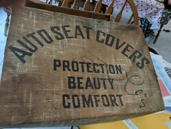 Nos Vintage 1941-48 Gm 2 Dr. Club Coupe Seat Covers Oem Green Print Amazing