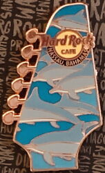 Hard Rock Cafe Nassau 2017 Guitar Head Dolphins Pin New W/card Le300 Hrc 96020