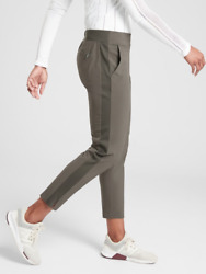 Athleta Brooklyn Ankle Lightweight Travel Pant Mountain Olive Women Size 4 Nwt