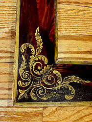American 19th Century Folk Art Flat Canted Picture Frame Original Paint Large