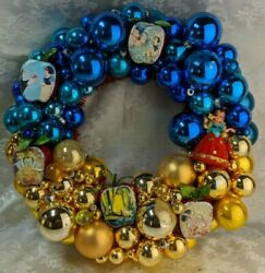 Kitschy Ornament Wreath Ooak Handmade W/ Vintage And New 19 Snow White
