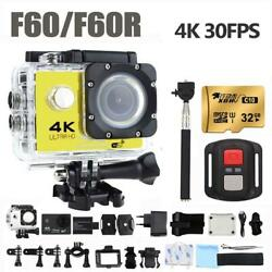 F60/f60r Action Camera Ultra Hd 4k/30fps 16mp 170d Wide Angle Sport Dv Go Waterp
