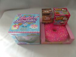 Silly Squishy Jumbo Pink Donut/narwhal Cake + Mini Smore And Blind Box Silly Poo