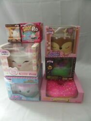 Silly Squishy Pink Donut 4 Cakes + Mini Smore And Blind Box Silly Poo Rare