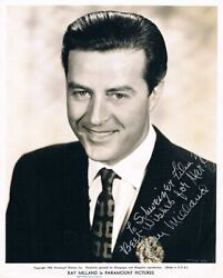 Ray Milland 1907-86 Genuine Autograph Signed Vintage 8x10 Photo