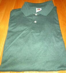 Men's Golf Shirt 1000 Pc Small Medium Fruit Of The Loom Color 50/50 Cotton/poly