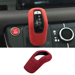 Fit For Defender 110 2020-2021 Red Suede Central Console Gear Shift Knob Trim 1x