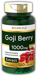 Carlyle Goji Berry 1000mg   120 Capsules   Concentrated Extract From Wolfberry