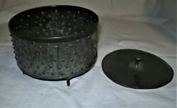 Antique Punched Tin Cheese Mold/strainer With Press