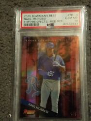 2015 Bowmanand039s Best Raul Mondesi Top Prospect -red Ref 3/5 Psa 10 Pop 1