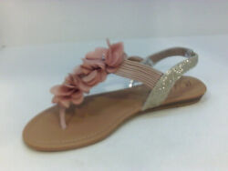 Wild Pair Womens Flat Sandals B23o2 Orange Size 10.5