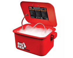 Torin-t10035 3.5 Gal Steel Cabinet Portable Parts Washer And Electric Pump-red