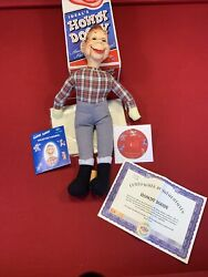 Ideal Toys 2004 Howdy Doody Ventriloquist Doll With Certificates With Dvd