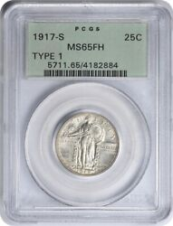 1917-s Standing Liberty Silver Quarter Type 1 Ms65fh Pcgs
