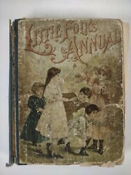 Little Folks Annual 1880s-90s Victorian Kids Book Superb Illustrations Whimsical