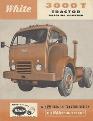 1959 White Tractor Model 3000t Specifications Dimensions Sales Brochure Original