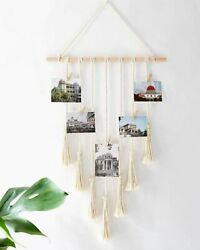 Woven Macrame Bohemian Wall Hanging Tapestry Tassel Photos Art Room Decor Gift