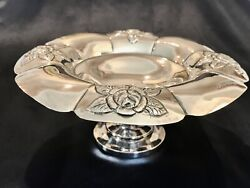 Aztec Rose By Sanborns Mexico Sterling Silver Compote Dish