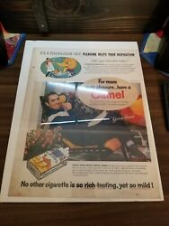 Vintage Cigarette Ads Lot Camel Lucky Strike Chesterfield Old Gold 1 Movie Ad