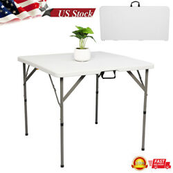 34 Blow Molding Foldable Square Table Picnic Party Camping Bbq Serving Desk