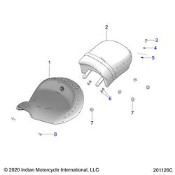 Indian Motorcycle Driver Seat Assembly Genuine Oem Part 2686580-02 Qty 1