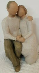 Willow Tree Anniversary Elderly Couple Sitting Together, Holding Hands Gift Euc