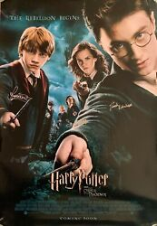 Daniel Radcliffe And Rupert Grint Signed Autographed Harry Potter Poster