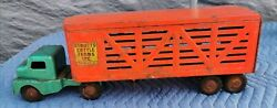 Vintage Structo Cattle Farms Inc Pressed Steel Semi Truck And Trailer