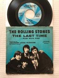 The Rolling Stones The Last Time 1965 Us London Records 7 + Picture Sleeve Vg+