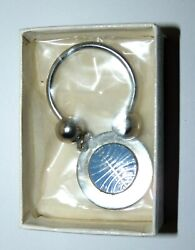Vintage Pan Am Pan American Airlines Airplane Key Ring Keychain Nos Stainless