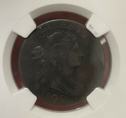1800 S-204 Pcgs Vf 30 Bn Draped Bust Large Cent Coin 1c