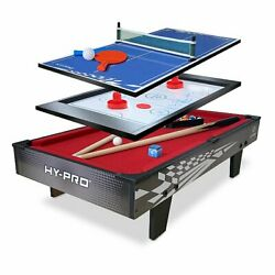 3-in-one Table Top Game Set - Mini Pool / Air Hockey / Ping Pong / Table Tennis