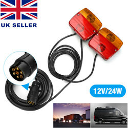12v Wired Trailer Van Rear Towing Light Board Lights Lamps + 7.5m Cable Uk