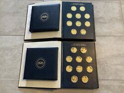 100 Uncirculated Sterling Silver Coins Gold Plated 63.5 Oz