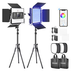 Neewer 2-pack Live Streaming/tiktok Led Photography Lighting Kit With Carry Bag