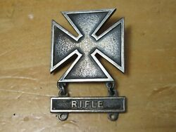 Vtg Wwii Us Army Marksman Badge Rifle Bar Sterling Silver Wwii Wwi Sharpshooter