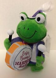 Gemmy Frog Easter Bunny Marching Band Animated Singing Plush Mwt Drum Drummer E8
