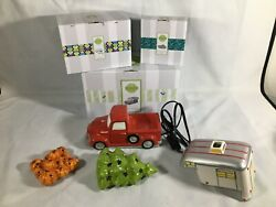 Scentsy Warmer SPECIAL DELIVERY RED TRUCK w Tree Pumpkin and Wanderlust cover