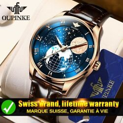 Automatic Watches For Men Moon Phase Luxury Waterproof Gift For Men