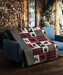 Virah Bella Collection - Phyllis Dobbs Lodge Life Primitive Quilted Throw