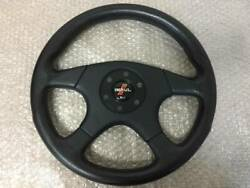 Impul Momo 36andphi Leather Steering Wheel Handle Horn Button Used