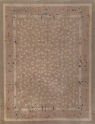 Antique Floral Art Deco Nichols Chinese Area Rug Hand-knotted Transitional 8x10